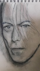 David Bowie (Unmarriedswede) Tags: david bowie sketch paper ink charcoal