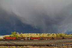 Union Pacific Rawlins Yard (M.J. Scanlon) Tags: rail railroad railway track train engine locomotive transportation power horsepower scanlon canon 7d storm outdoors outdoor weather