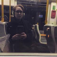On dark nights on the tram when I catch my reflection I feel like #GeorgeSmiley with these glasses. (Miss Emma Gibbs) Tags: ifttt instagram metrolink tram commuter commute dark lonely joel emma