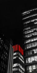 London Wall (i) (stevethesnapper) Tags: buildings architecture fun december afterdark london lumix 2016 blackandwhite bw street
