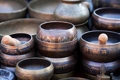Recording Studio: Tibetan Singing Bowls (Crash Symphony Production) Tags: old nepal music cup metal pattern singing symbol market metallic object religion praying culture tibet musical tibetan meditation spirituality mass spiritual relaxation mallet decor indigenous