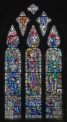 Frideswide & Cuthbert, Bamburgh (TheRevSteve) Tags: church parish stainedglass northumberland cuthbert anglican staidan frideswide douglasstrachan