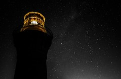Barrenjoey Lighthouse night time colour pop (Mr Clicker / Davin) Tags: summer lighthouse white black colour beach night way stars bay long exposure mr time sydney australia pop palm davin milky clicker selective barrenjoey