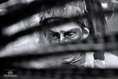 (juan.esspinosa) Tags: retrato bn zocalo azteca conchero