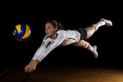 Khira Adams - McMaster Marauders Volleyball (Haddadios) Tags: david ed lights athletic nikon photoshoot centre womens program winner volleyball nikkor gemini gymnasium afs mcmaster strobe marauders d800 2470mm bowens burridge 500r f28g braley dbac