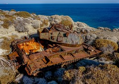 Old Tank (t_aris) Tags: old abandoned tank aegean greece chaffee limnos m24 m24chaffee