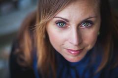 Giusy <3 (M@x Ph) Tags: above green look canon model eyes glare greeneyes occhi sguardo wife 5d ritratto moglie mkiii mk3 sopra modella occhiverdi canon5dmkiii