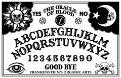 Spirit BOARD (ashley russell 676) Tags: art design oracle blood artwork witch spirit vampire board magic ghost evil human frankenstein printing horror organic talking press paranormal occult superstition mystifying esoteric ouija