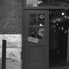 TFSM Fall '15  - The Distillery District (.:Axle:.) Tags: city urban bw toronto ontario canada 120 6x6 public rollei rolleiflex mediumformat square blackwhite distillerydistrict market squareformat restored restoration rolleiflex28f tfsm 11100 filmisnotdead frankeheidecke asa320 pyrocathd filmisalive rpx400 carlzeissplanar80mm128 godderhamworts photographersformulary rolleirpx400 believeinfilm torontofilmshootersmeetup