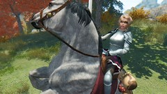 Yurica chevaleresse armor UNP (coconuts913) Tags: horse riding unp skyrim idye