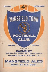 1963-64 Mansfield Town v Barnsley (andyhorsfield63@gmail.com) Tags: football mansfield barnsley footballprogramme mansfieldtown barnsleyfc barnsleyfootballclub