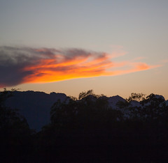 Thailand - Kanchanaburi sunset (Cyrielle Beaubois) Tags: travel sunset mountains clouds thailand colorful asia thalande southeast kanchanaburi 2015 canoneos5dmarkii cyriellebeaubois