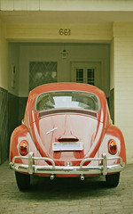 Red Beetle (Renan Catto) Tags: old beetle vermelho paulo agfa so 1300 fusca clssico kafer duoscan