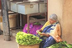 Duty bound (bluelotus92) Tags: woman india leaf market karnataka mysore seller weary betel betelleaf mysuru devarajursmarket devarajaursmarket dutybound
