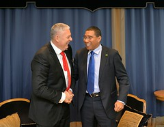 Prime Minister the Most Hon. Andrew Holness , meets with the Prime Minister of St. Lucia, Allen Chastanet