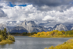 Grand Teton National Park, 19-09-2016 (Paul van Baarle) Tags: verenigdestaten unitedstates amerika america usa vs teton wyoming herfst mountain grandteton nationalpark park berg meer lake jacksonlake autumn landscape cloud sky water hill gebergte lucht wolken wolk clouds nikon d7200 scenery rockymountains