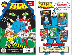 THE TICK SDCC NUMBER 106 NOT AUTOGRAPHED.  MINT CONDITION. (vsndesigns) Tags: beta the tick vs arthur sentinel prime optimus successor townsend coleman lego minifig minifigure dcon 2014 ball mylar balloon buttons bonanza pencil indie shocker gbjr toys with tie and tshirt zombie in a steel box fox promotional totally kids magazine 45 club spoon taco bell meal commercial eli stone ben edlund little wooden boy comic book merchandise rare limited edition 80s 90s collector museum naked super hero heroine collection photo screen