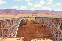 Navajo Bridge (Paige_Terhune) Tags: architecture follow comment like river sun desertlife symmetric landscape nature navajo bridge desert