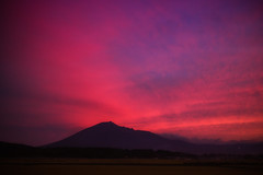 Spectacular Autumn Sunset (jasohill) Tags: autumn color sunset nature city 2016 fall power landscape adventure hachimantai stoic photography life jasohill layers pink mtiwate matsuo iwate
