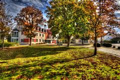 Colourful Autumn (++sepp++) Tags: hdr bayern deutschland de bavaria germany rathausplatz rathaus herbst autumn fall bume trees townhall landschaft landscape architektur architecture sonnig sunny