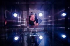 :) (jazmin.jung) Tags: selfie nikon women photographer elevator blue selfpotrait portrait happiness camara lights wideangle