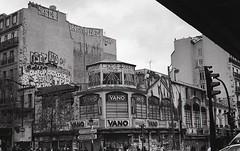 Paris 2011 (marzo ph.) Tags: paris shot with nikon ilford hp5 pairs 35mm analog graffiti bombing 1up street tags rooftop bw daniele marzocchi marzoph istillshootfilm buyfilmnotmegapixels staybrokeshootfilm filmsnotdead