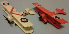 MANDARIN DR1 # A-02 & CAMEL # A-07 (NyamalaTone) Tags: toy airplane avion jouet juguete vintage collectible flugzeug