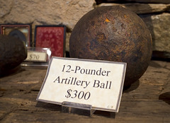 12 pounder artillery cannon ball Michie Tavern Charlottesville Va. (watts_photos) Tags: 12 pounder artillery cannon ball michie tavern charlottesville va rust round cannonball pound pounds