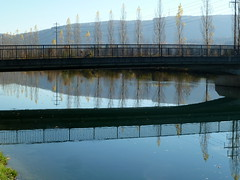 Flusslandschaft / River landscape d (krinkel) Tags: brcke bridge spiegelung reflections aare fluss river olten switzerland