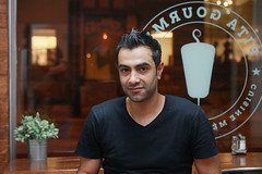 Stranger 113 of 100 photos. Mohamad is the one hundred and thirteenth stranger I have photographed for this project and appears in the 100th photo of my first set. (Jacques Lebleu) Tags: 100strangers stranger inconnu restaurant pitagourmet rosemont mtro cuisine mditerranenne mezzs grillades liban turquie grce mditerrane mediterranean food greek lebanese turkish montral montreal city new france patrie country qubec petitepatrie rosemontlapetitepatrie cpr restauration cousin