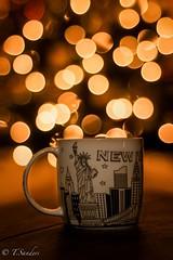 Christmas Spirit (Peasantographer) Tags: mood d7100 nikon 50mm f18 christmaslights coffee newyork lights christmas xmas joy peace happy merry yellow bokeh green lifestyle red orange brown peaceful travel mug happiness smile christmastree tree gifts wow night joly