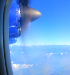 Flying over the Himalayas to Everest (nick taz) Tags: flying engine propeller himalayas mountains everest range
