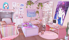Missed Morning. (Luna  X) Tags: the kawaiit project whimsical event gacha garden candy crunchers cment altair house cherry rare toiz 235 factory anime kawaii room decor pink