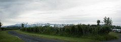 Panoramic view of the glacier Eyjafjallajkull (Rita Willaert) Tags: kloof eyjafjallajkull myrdalsjkull hellisholar markarfljot innriemstruariver homsarivier eyjafjallajkull myrdalsjkull