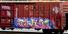 twit '16 (timetomakethepasta) Tags: twit upsk ups hk freight train graffiti art boxcar cotton belt restore rso resto whistleblower moniker