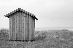 I Wish I Was A Boat... (brandsvig) Tags: skanr skne sigma2040 canon40d sweden badhytt cabin balticsea stersjn sverige shore june 2014 summer sommar falsterbo flommen horizon horisont sea hav wood tr bw wishfulthinking