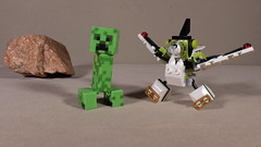 Mixel and the Mine Creeper (Busted.Knuckles) Tags: home toys minecraft minecreeper lego mixel canonsl1