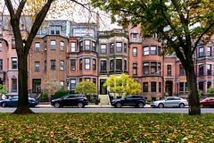 Commonwealth Ave ((Jessica)) Tags: boston massachusetts commonwealthave us unitedstates buildings brownstones brick