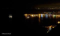 Bay of Taormina & Giardini Naxos by night (Alessandro Lo Piccolo Hollweger) Tags: taormina naxos giardininaxos bay sicily balcony nightscape vessel harbour