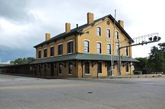 Memphis & Charleston Railroad; Southern Railway, Alabama, Huntsville (3,157-2) (EC Leatherberry) Tags: depot station alabama 1860 madisoncounty memphischarlestonrailroad southernrailway huntsvillealabama