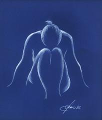 Pausa (Zz manipulation) Tags: art ambrosioni zzmanipulation carta woman pastello riposo donna disegno drawing
