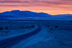 Death Valley Blue (Kirk Lougheed) Tags: beatty california daylightpass deathvalley deathvalleynationalpark nevada usa unitedstates dawn landscape nationalpark outdoor road sunrise