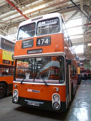 Preserved GM Buses 8697 (A697HNB) 15102016c (Rossendalian2013) Tags: preserved bus manchester greatermanchesterpte gmpte greatermanchestertransport gmbuses gmbusesnorth greatermanchesterbusesnorthlimited firstmanchester leyland atlantean an68 northerncounties a697hnb