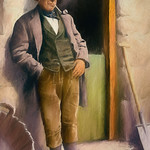 Digital Color Pencil Drawing of an Irish Farmer by Charles W. Bailey, Jr. thumbnail