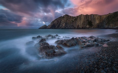Silencio (Asturias, Spain) (Tomasz Raciniewski) Tags: playa silencio asturias spain sunset coast shore clouds outdoor water landscape sea mar cantabrico 1020 sigma d3200 haida nd400 longexposure wide