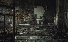 Prypjat Hospital (Nils Grudzielski) Tags: lostplaces abandonedplaces urbanexploration verlasseneorte marode ruin rotten 1986 tschernobyl prypjat ghostcity city hospital krankenhaus chernobyl zone