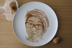 self portrait (pedalstrike) Tags: pedalstrike pedalstrikecom foodart selfportrait hiyoko japanese