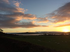Arran hills and sunset (goforchris) Tags: winter ardyne lowsun sky sunset cowal argyll scotland
