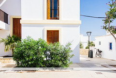 Formentera, Spain (Naomi Rahim (thanks for 3 million visits)) Tags: formentera spain españa island balearicislands mediterranean architecture europe europa travel travelphotography 2016 nikon nikond7200 wanderlust siesta buildings white santfrancescxavier empty lonely street streetphotography village town tree bush plant flowers house home santfrancescdeformentera