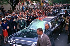 #Lyndon Johnson's presidential limousine is bombarded with balloons of paint in the colours of the flag of the Viet Cong by two young brothers protesting the Vietnam War during a state visit to Australia, October 21, 1966 [960x636] #history #retro #vintag (Histolines) Tags: histolines history timeline retro vinatage lyndon johnsons presidential limousine is bombarded with balloons paint colours flag viet cong by two young brothers protesting vietnam war during state visit australia october 21 1966 960x636 vintage dh historyporn httpifttt2gypbfr